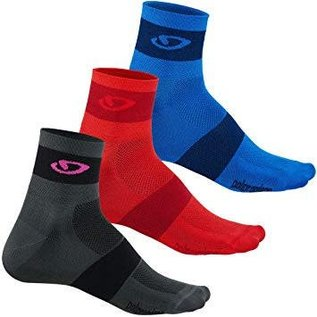 Giro Giro Comp Racer Sock Pack Red/Blk/Blu