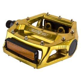 """Black Ops Black-Ops Alloy Platform Pedals 9/16"""" Gold"""