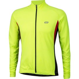 Bellwether Bellwether Draft Men's Long Sleeve Jersey Yel Lrg