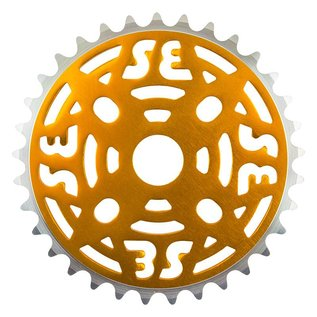 "SE Bikes SE One Piece Alloy Chainring 33T 1/8"" Gold"