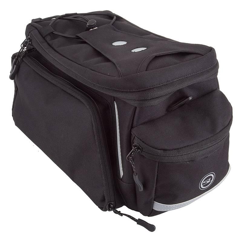 Sunlite Bag Rackpack Med w/ Side Pockets Blk