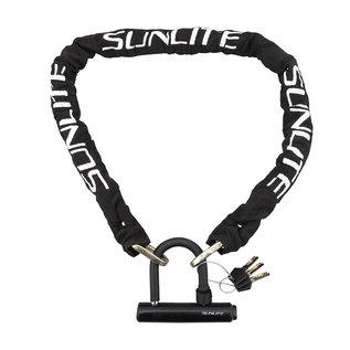 Sunlite Sunlite Knox HD Chain 4ft  Blk w/Mini U-Lock