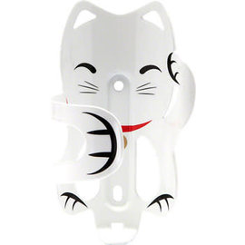 Portland Design Works Lucky Cat Water Bottle Cage: White Cat