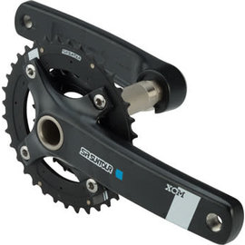 SR Suntour SR  XCM-AX Crankset - 175mm, 10-Speed, 36/22t , Black