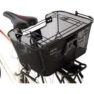 Axiom Axiom Pet Basket with Rack and Handlebar Mounts: Black