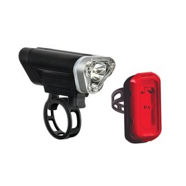 Blackburn Blackburn Local 75 Front + Local 15 Rear Light Set Black