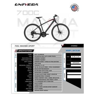 Univega 700 Maxima Sport Mens SM Black