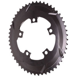 Absolute Black Absolute Black 5x110BCD Oval Chainring Road Blk