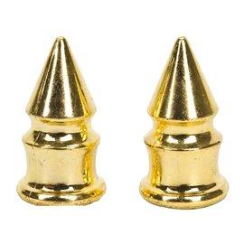Trik Topz Trik Topz Spike Valve Caps Gold