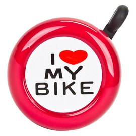 Sunlite Sunlite I Love My Bike Bell Red