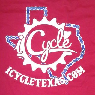BeefyTee iCycle Texas Shirt Red/Wht