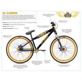 SE Bikes SE DJ Ripper 26in 2019 Blk/Gold