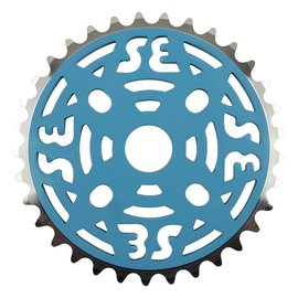 SE Bikes SE One Piece Alloy Chainring 33T 1/8 Alloy Blu