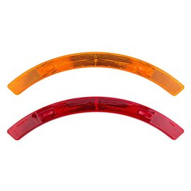 Sunlite Sunlite Wheel Reflector Set Long Red/Ylw