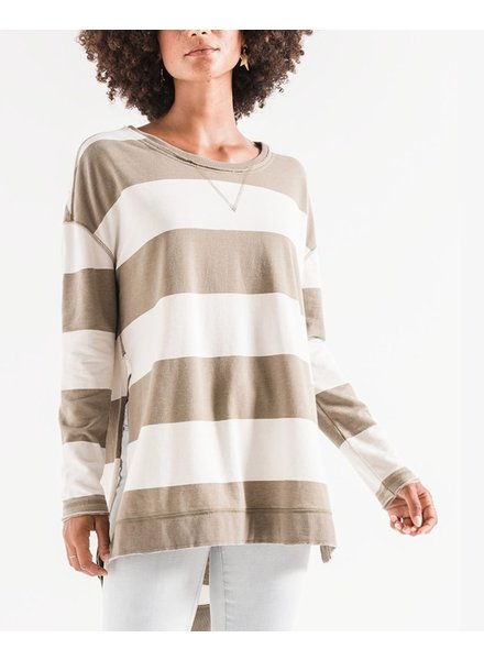 Striped Sweatshrit
