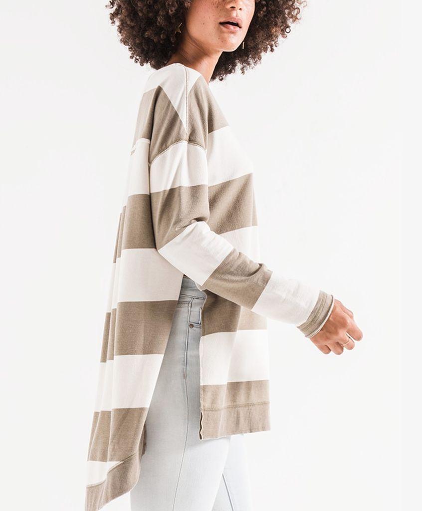 Striped Sweatshrit