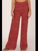 Printed Red Pants