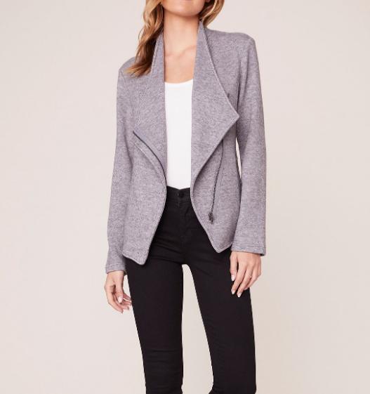 BB Dakota Knit Zip Front Jacket