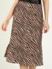 Honey Punch Zebra Print Midi Skirt