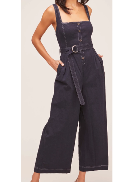 Denim Wide Leg Jumpsuit