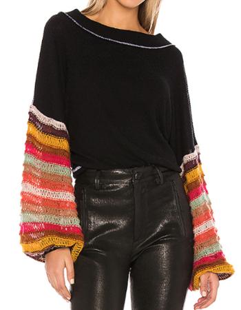 Rainbow Sleeve Sweater