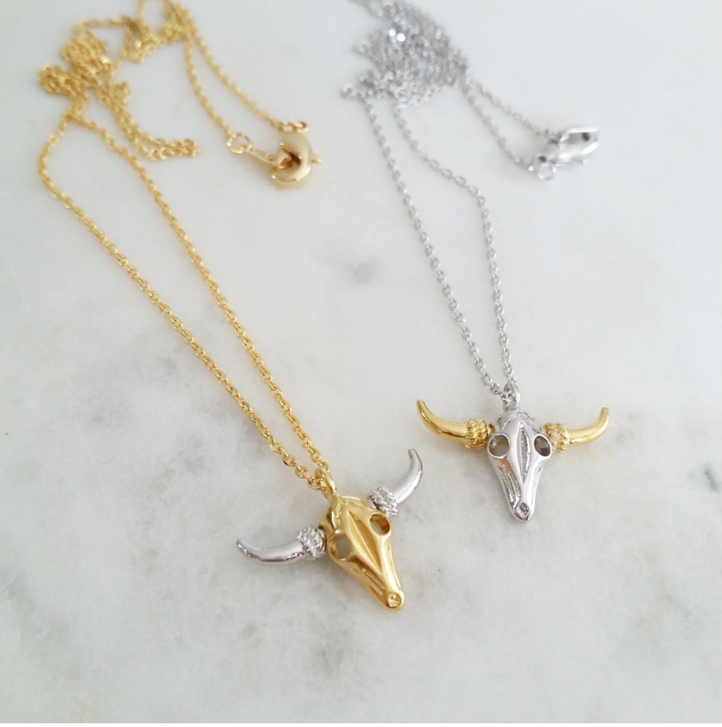 Longhorn Steer Head Necklace