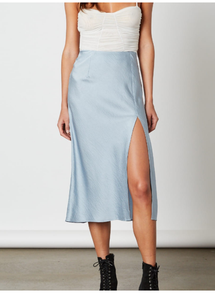 Cotton Candy High Slit Slip Skirt