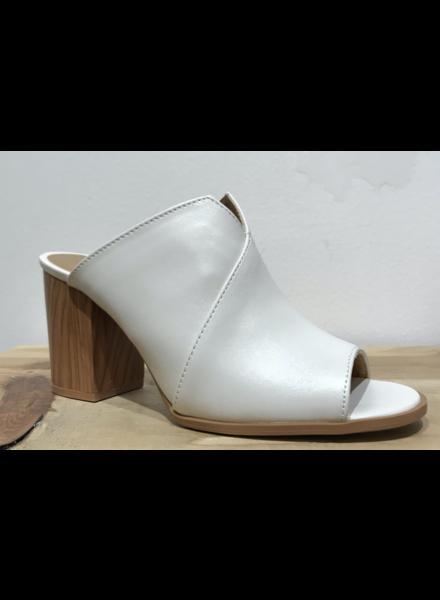 Wooden Heel Mule