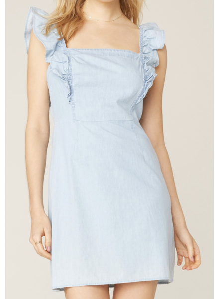 BB Dakota Denim Ruffle Dress