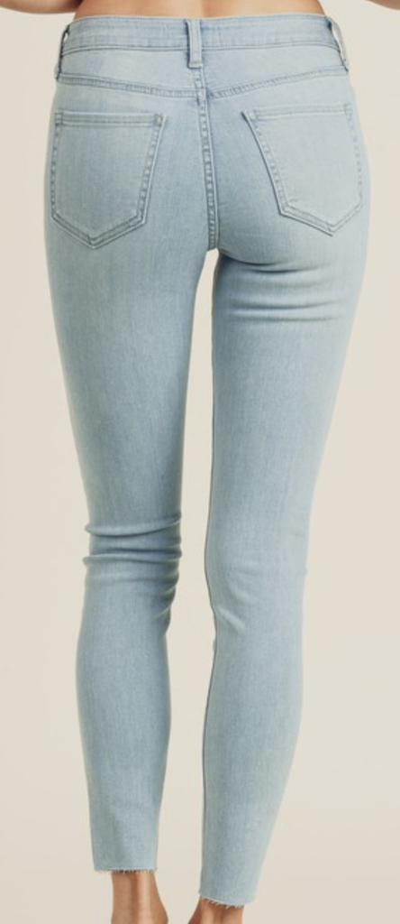 Button Up Skinny Jeans