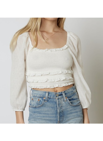 Cotton Candy Smocked Crop