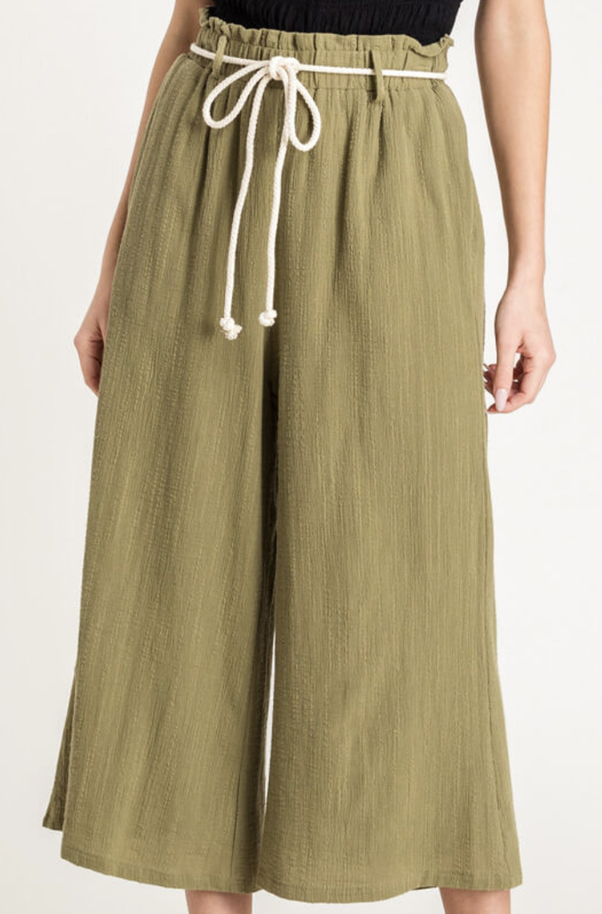 Rope Belt Pants