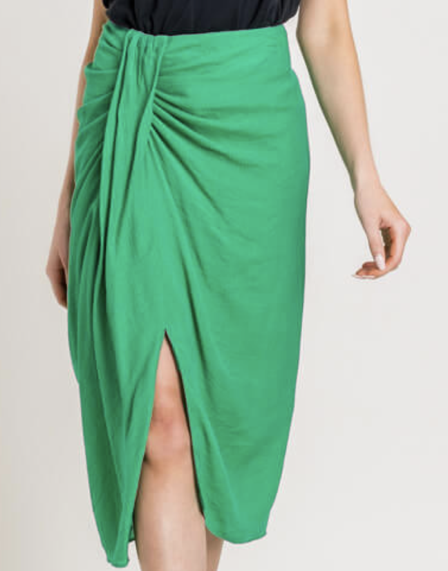 Ruched Midi Skirt