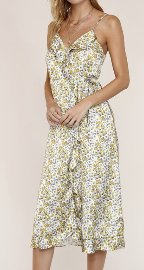 Yellow Wrap Dress
