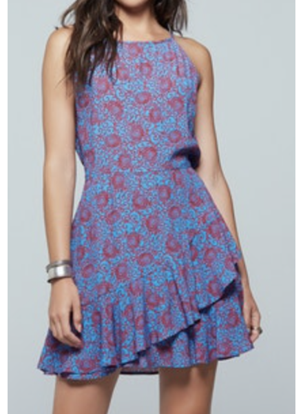 Band of Gypses Ruffle Floral Dress