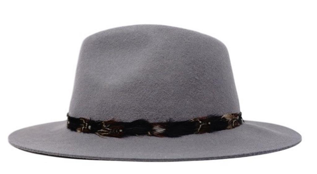 Feather Trim Hat