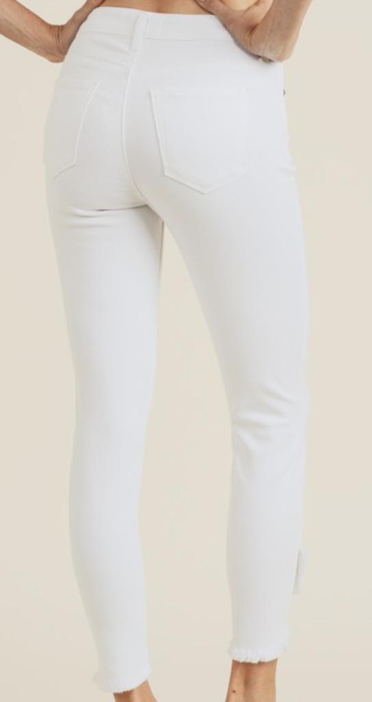 Cross Over Hem Jeans
