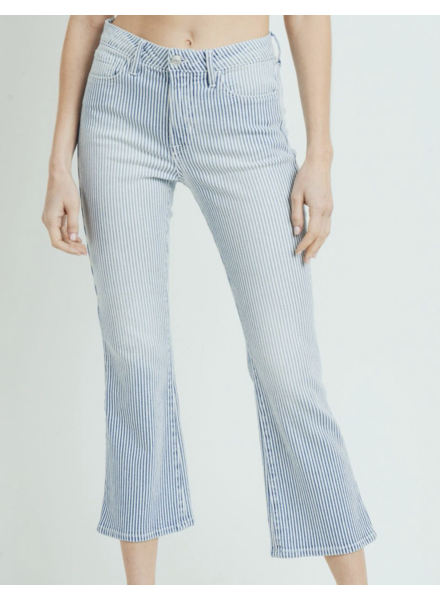 Cropped Stripe Jean