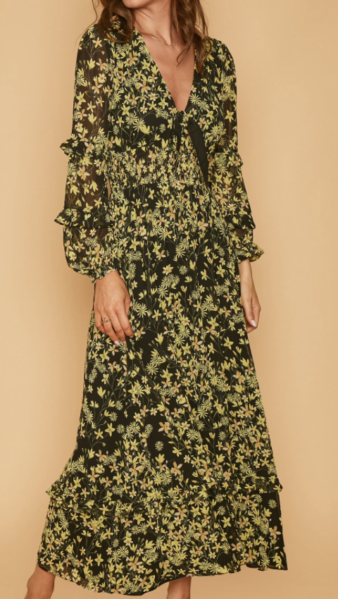 Floral Long Sleeve Maxi