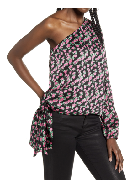 WAVF One-Shoulder Blouse