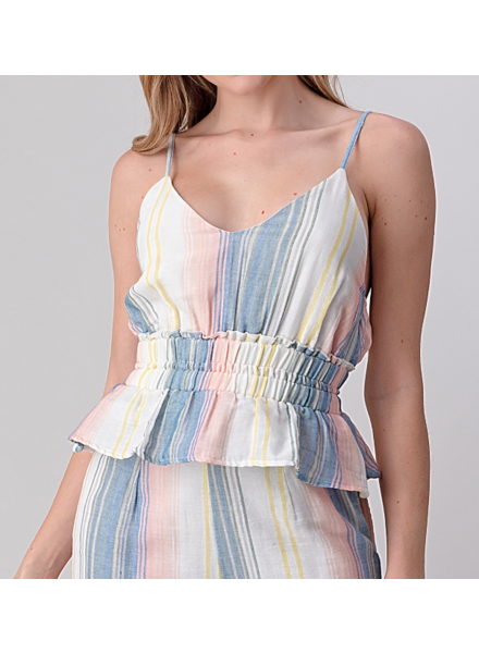 Sage The Label Stripe Cinched Tank