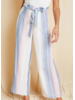 Sage The Label Stripe Belted Pants