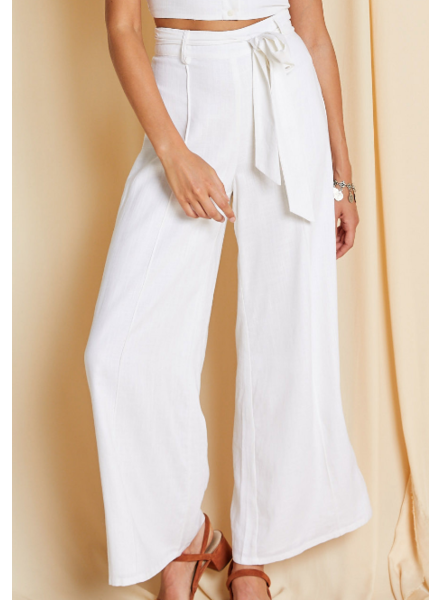 Sage The Label Belted Flowy Pants