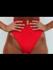VDM Red High Waist Bikini Bottoms