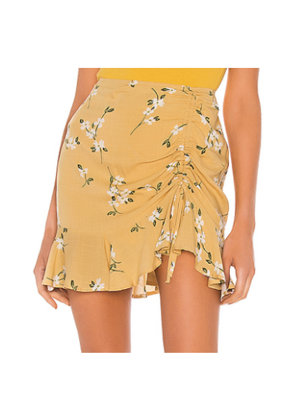 Floral Ruched Skirt