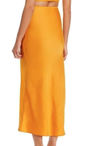 WAVF Tangerine Midi Skirt