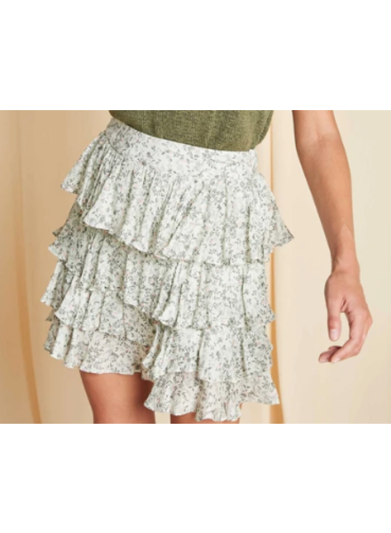 Sage The Label Floral Ruffle Skirt