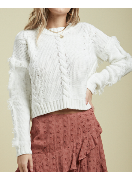 Sage The Label Fringe Sweater