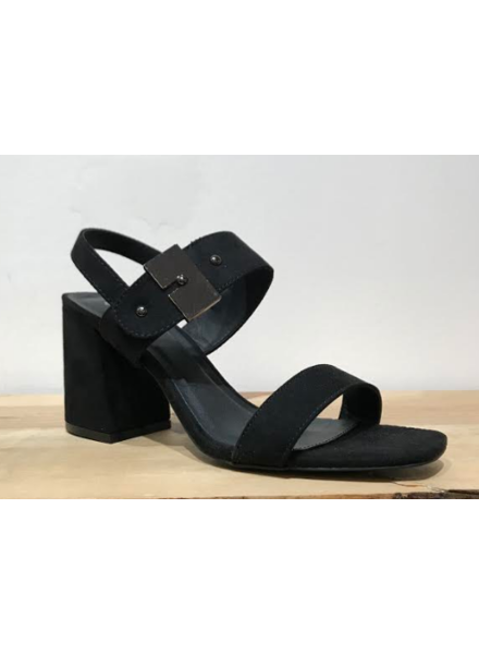 Strappy Buckle Heel