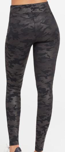 Spanx Leather Camo Leggings
